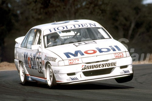 92053 - Peter Brock  Holden Commodore VN - Oran Park 1992 - Photographer Ray Simpson
