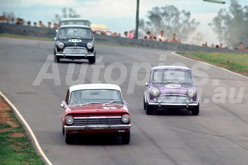 67106 -  Graham Ryan Holden EH & Phil Barnes Morris Cooper S -  Oran Park 1967 - Photographer Richard Austin