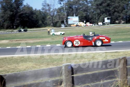 701070 - Vince Evans TR3A - Warwick Farm 1970 - Photographer Bob Jess