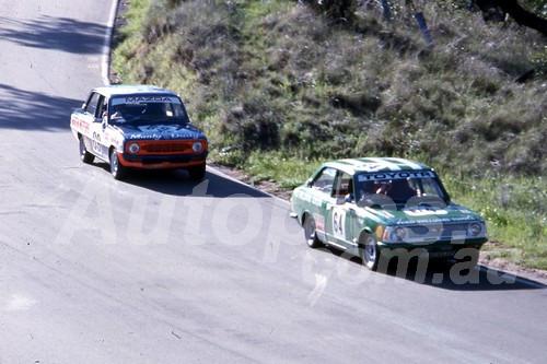 75133 -  Richard Stieger & Greg Toepfer Toyota Corolla  Brian Porter & John Ainsley Mazda 1300- Bathurst 1975 - Photographer Bob Jess
