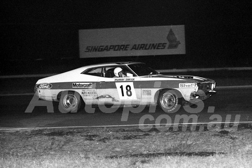 75107 - Murray Carter, Falcon - Twilight meeting Calder 18th January 1975 - Photographer Peter D'Abbs