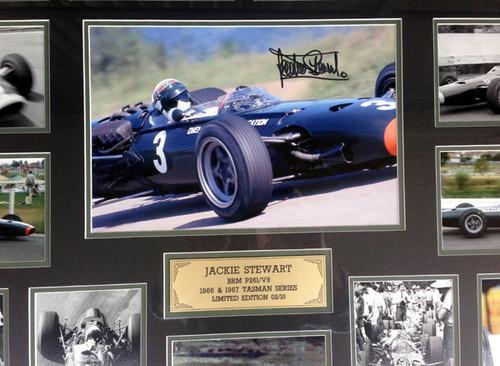 1158 - Jackie Stewart, Tasman Series - #09/10 - Framed &  Personally Signed