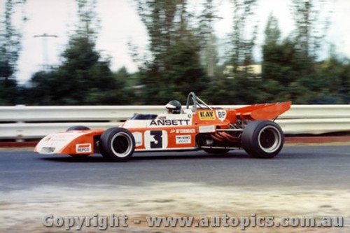 73622 - J. McCormack Elfin  - Tasman Series 38th AGP Sandown 1973 - Photographer David Blanch
