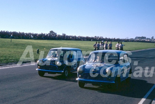 62597 - Ron Flockhart & Peter Manton Morris 850 - Sandown 11th March 1962  - Photographer  Barry Kirkpatrick