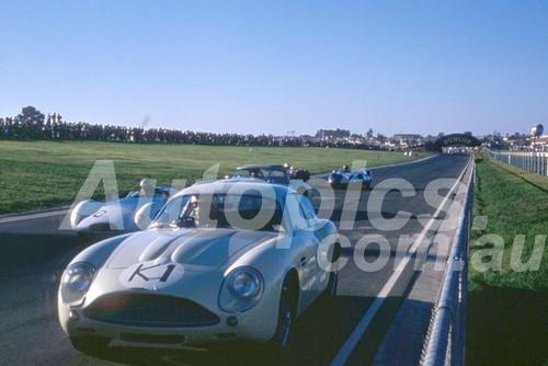62609 - Doug Whiteford, Aston Martin Zagato - Sandown 11th March 1962  - Photographer  Barry Kirkpatrick