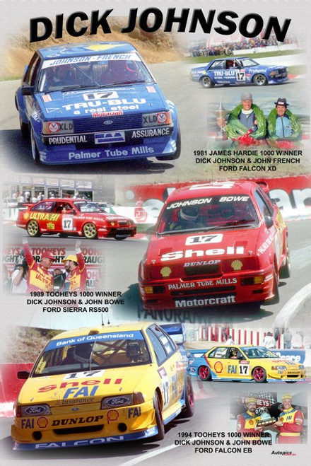 1175 - A collage of Dick Johnson's Bathurst Wins