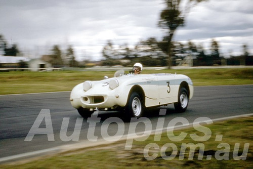 61035 - Ron Haylen - Austin Healey Sprite - Warwick Farm 1961 - Photographer Peter Wilson
