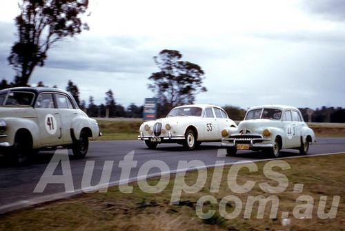 61036 - #41 K. Burge, #44 Henry Holden & Bob Jane Jaguar - Warwick Farm 1961 - Photographer Peter Wilson