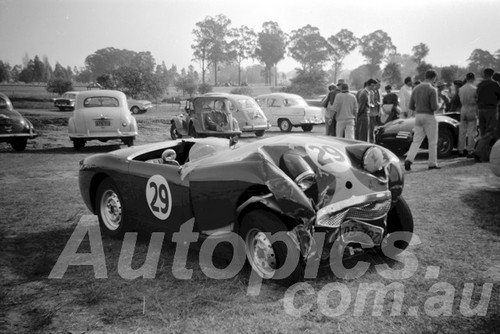 61064 - A. Allan, Austin Healey Sprite- Warwick Farm 1961 - Paul Manton Collection