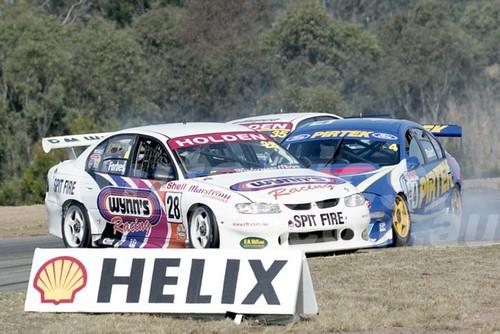 200106 - Rodney Forbes, Holden Commodore VT & Craig Baird, Ford AU - Oran Park 2000 - Photographer Marshall Cass