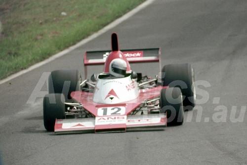 77645 -  Garrie Cooper, Elfin MR8 Chev - Tasman Series Australian Grand Prix Oran Park 1977 - Photographer Neil Stratton