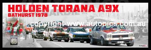 1181 - Holden Torana A9X - Bathurst 1978 -  A Panoramic Photo 30x10 inches.