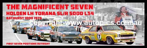 1183 - Holden LH Torana SL/R 5000 L34 - Bathurst 1976 -  A Panoramic Photo 30x10 inches.