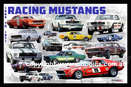 1184 - Racing Mustangs - 1965 to 1971