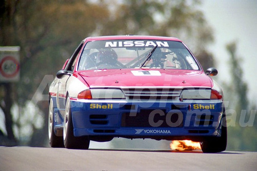 91776 - JIM RICHARDS / MARK SKAIFE, NISSAN SKYLINE R32 GT-R - 1991 Bathurst Tooheys 1000 - Photographer Ray Simpson