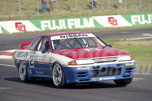 91755 - DREW PRICE / GARRY WALDON , NISSAN SKYLINE R32 GT-R - 1991 Bathurst Tooheys 1000 - Photographer Ray Simpson