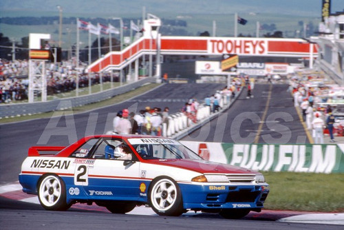 91756 - DREW PRICE / GARRY WALDON , NISSAN SKYLINE R32 GT-R - 1991 Bathurst Tooheys 1000 - Photographer Ray Simpson