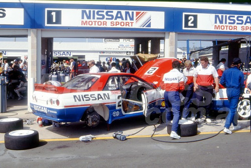 91757 - DREW PRICE / GARRY WALDON , NISSAN SKYLINE R32 GT-R - 1991 Bathurst Tooheys 1000 - Photographer Ray Simpson