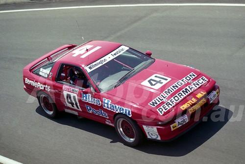 91834 - GARRY WILLMINGTON / REDA AWADALLAH, TOYOTA SUPRA - 1991 Bathurst Tooheys 1000 - Photographer Ray Simpson
