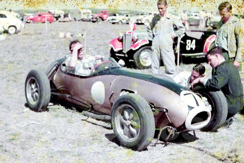 59531 - Ern Tadgell Lotus 12 Sabakat - Lowood 1959 - Jim Bertram Collection