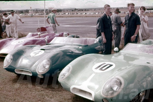 62035 - Bevan Fleming, Graham  White, Chas Whatmore, Lotus XI - Lowood 1962- Jim Bertram Collection