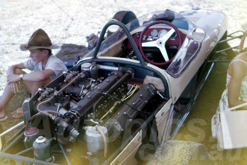 62041 - Ron Flockhart, Lotus Climax - Lakeside 1962- Jim Bertram Collection