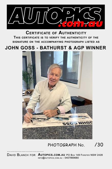 1197 - John Goss Bathurst & AGP Winner - #12/30 Personally Signed Limited Edition
