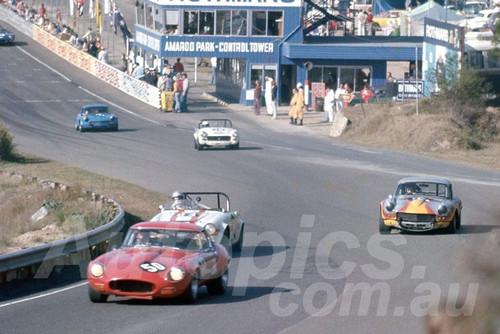 76207 - Terry Handley E Type Jaguar  / M Griffin Datsun & George Mangan Triumph GT6  - Amaroo Park 1976