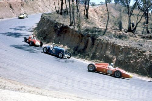 60122 - G. Stewart, Stewart MG SC /  N. Barnes MG TC /  J. Myers Thunderbird - Bathurst 1960 - Photographer Jeff Harrop