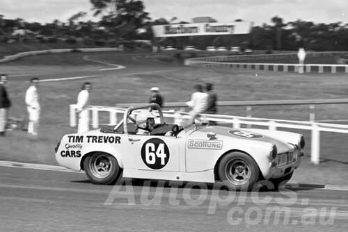 74188 - Tim Trevor MG Midget - Sandown 8th September 1974 - Photographer Peter D'Abbs