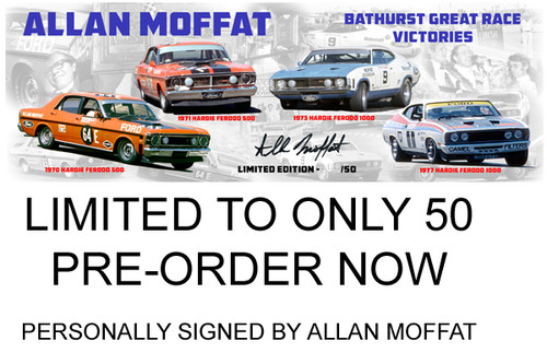 Allan Moffat Personally Signed Limited Edition  Bathurst Wins.jpg