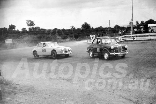 60042 - Emanuel Pitsiladis, Austin Lancer & Ron Hodgson, Jaguar MK1 3.8 -1960 ATCC  Gnoos Blas
