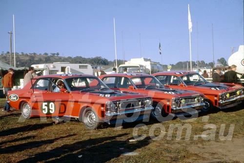 69687 - Ford Motor Company Team - Falcon XW GTHO - Moffat & Hamilton, Gibson & Seton, Pete & Leo Geoghegan - Hardie Ferodo 500 Bathurst 1969