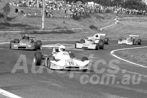 76220 - Brian Sampson, Cheetah MK 5, Chas Talbot, Birrana & Graeme Crawford, Birrans 273 -  Sandown 11th April 1976 - Photographer Peter D'Abbs