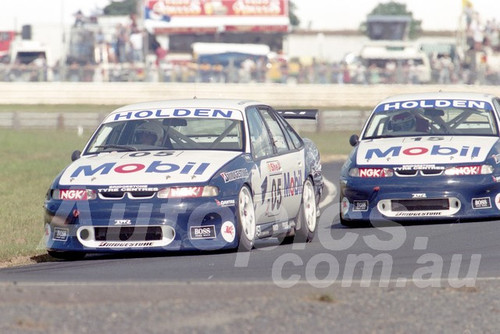 96041 - Peter Brock & Craig Lowndes, Commodore VR - ATCC Lakeside 1996 - Photographer Marshall Cass