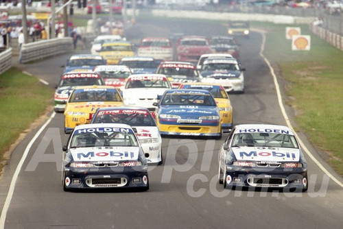 96042 - Peter Brock & Craig Lowndes, Commodore VR - ATCC Lakeside 1996 - Photographer Marshall Cass