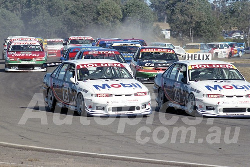 97041 - Peter Brock & Greg Murphy, VS Commodore - ATCC Oran Park 1997 - Photographer Marshall Cass