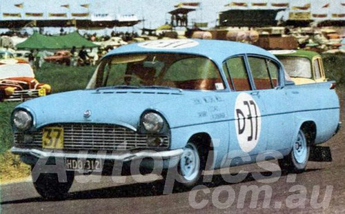 60763 - Frank Coad / John Roxburgh Vauxhall Cresta - Winner of the First Armstrong 500 Phillip Island 1960 - Not great quality.