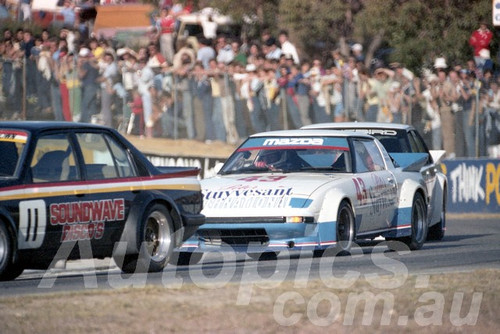 83107 - Clive Benson-Brown, Commodore & Allan Moffat Mazda RX7 - Wanneroo April 1983 - Photographer Tony Burton