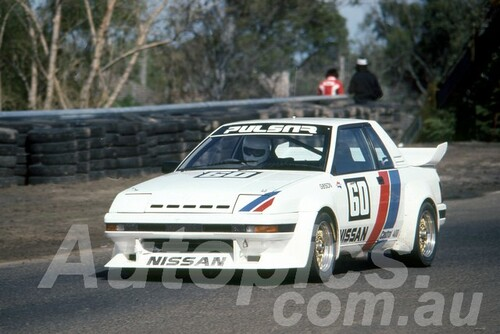 84101 - Christine Gibson, Nissan Pulsar EXA - Sandow 1984 - Photographer Lance J Ruting
