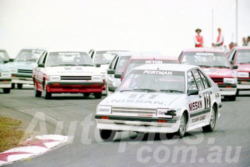 85074 - Geoff Portland Nissan Trbo - Amaroo July 1985 - Photographer Lance J Ruting