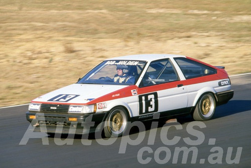 85078 - Bob Holden, Toyota Sprinter - Amaroo 1985 - Photographer Lance J Ruting