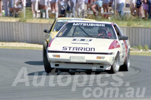 85085 - Kevin Bartlett, Starion - Wanneroo March 1985 - Photographer Tony Burton