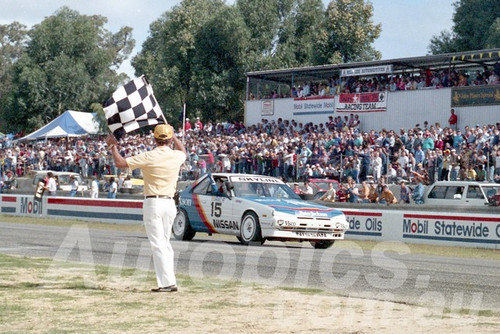 87113 - Glenn Seton Nissan Skyline  - Wanneroo April 1987 - Photographer Tony Burton