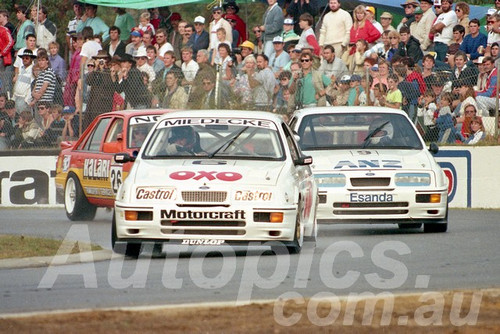 88124 - Andrew Miedecke & Allan Moffat Sierra RS500 - Wanneroo May 1988 - Photographer Tony Burton