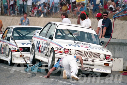 88132 - Peter Brock & Jim Richards  BMW M3 - Wanneroo May 1988 - Photographer Tony Burton