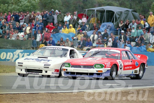 89069 - Mark Trenworth Jaguar XJS & Dick Ward Mazda RX7, Sports Sedans - Wanneroo April 1989 - Photographer Tony Burton