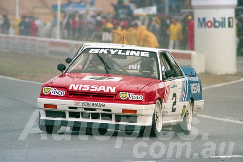 89072 - Jim Richards, Nissan Skyline  - ATCC Round 4  Wanneroo April 1989 - Photographer Tony Burton