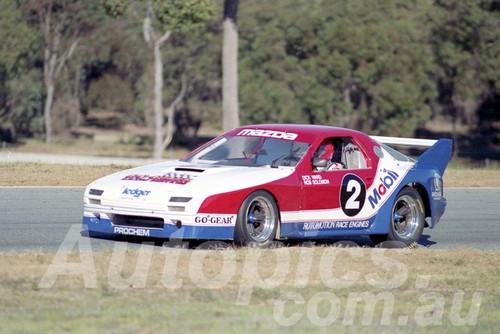 90039 - Dick Ward, Mazda RX7 Sports Sedan - Wanneroo  24th June 1990 - Photographer Tony Burton