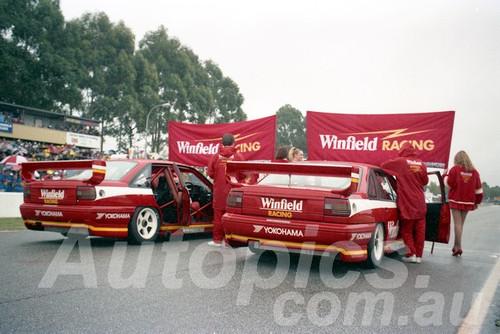 93045 - Mark Skaife & Jim Richards, Commodore VP -  Wannaroo 10th July 1993 - Photographer Tony Burton